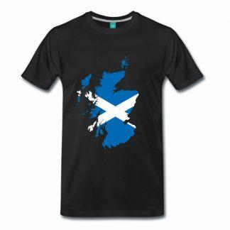 T-Shirt mit Schottland-Karte und St. Andrew's Cross