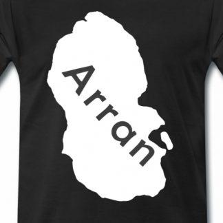 T-Shirt mit Isle of Arran Karte