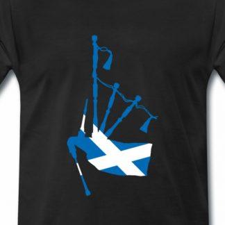 Dudelsack mit schottischer Flagge
