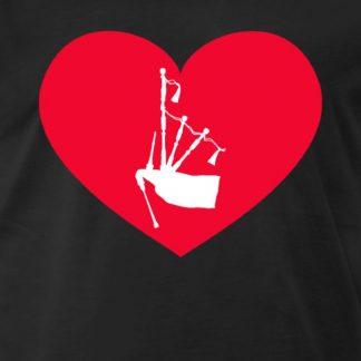Dudelsack in rotem Herz