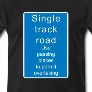 Single Track Road Schild