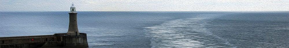 Einfahrt in den Hafen von Newscastle upon Tyne mit DFDS Seaways
