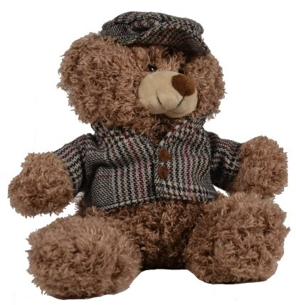 Teddy-Bär im Tweed-Look