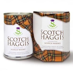 Haggis mit Whisky in einer Dose