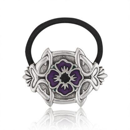 Haargummi Lila Blume mit keltischen Mustern