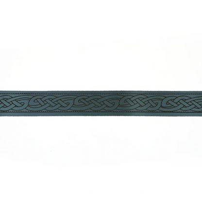 Kilt Gürtel schwarzes Leder keltisches Muster