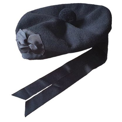 Balmoral Kopfbedeckung Highland Dress schwarz